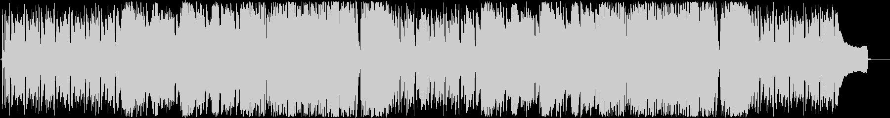 ピアノ&フルートが主体のポジティブBGMの未再生の波形