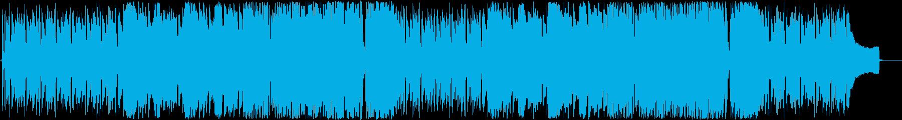 ピアノ&フルートが主体のポジティブBGMの再生済みの波形