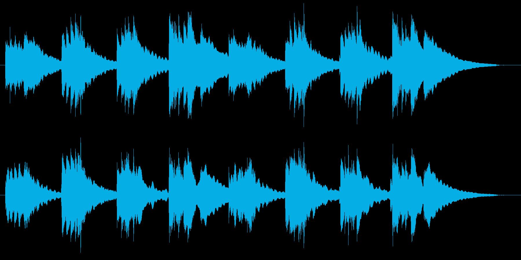 安心感ある短いバラードの再生済みの波形