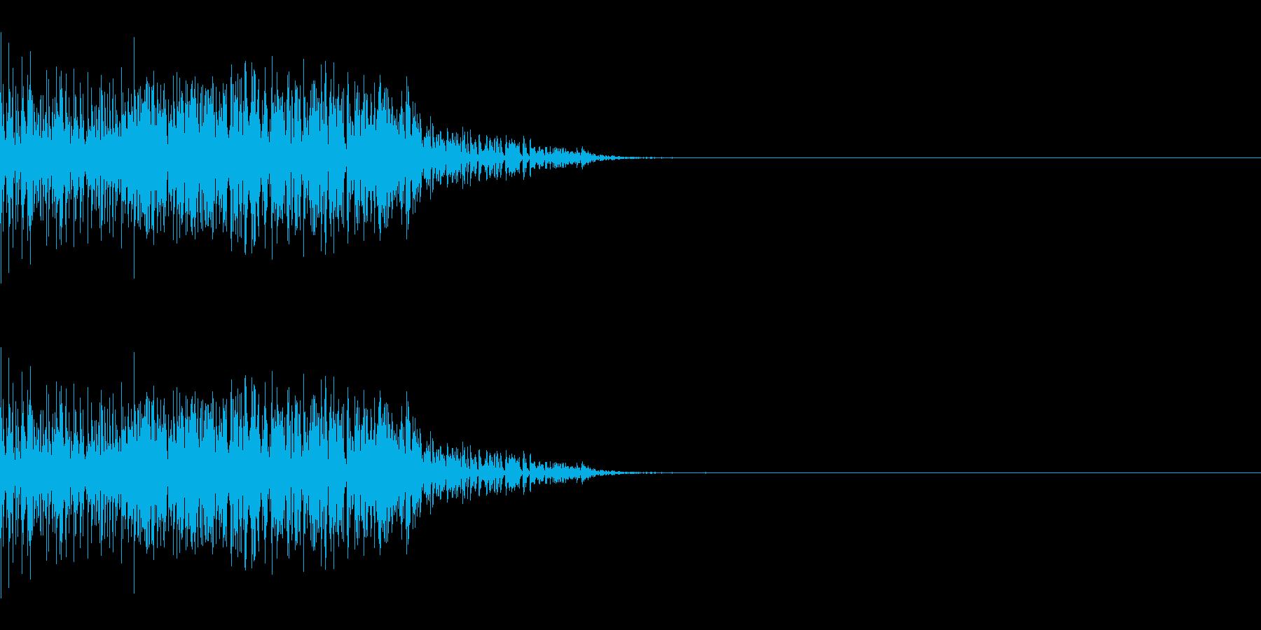 ザッ(ひっかく/大型動物/攻撃)の再生済みの波形