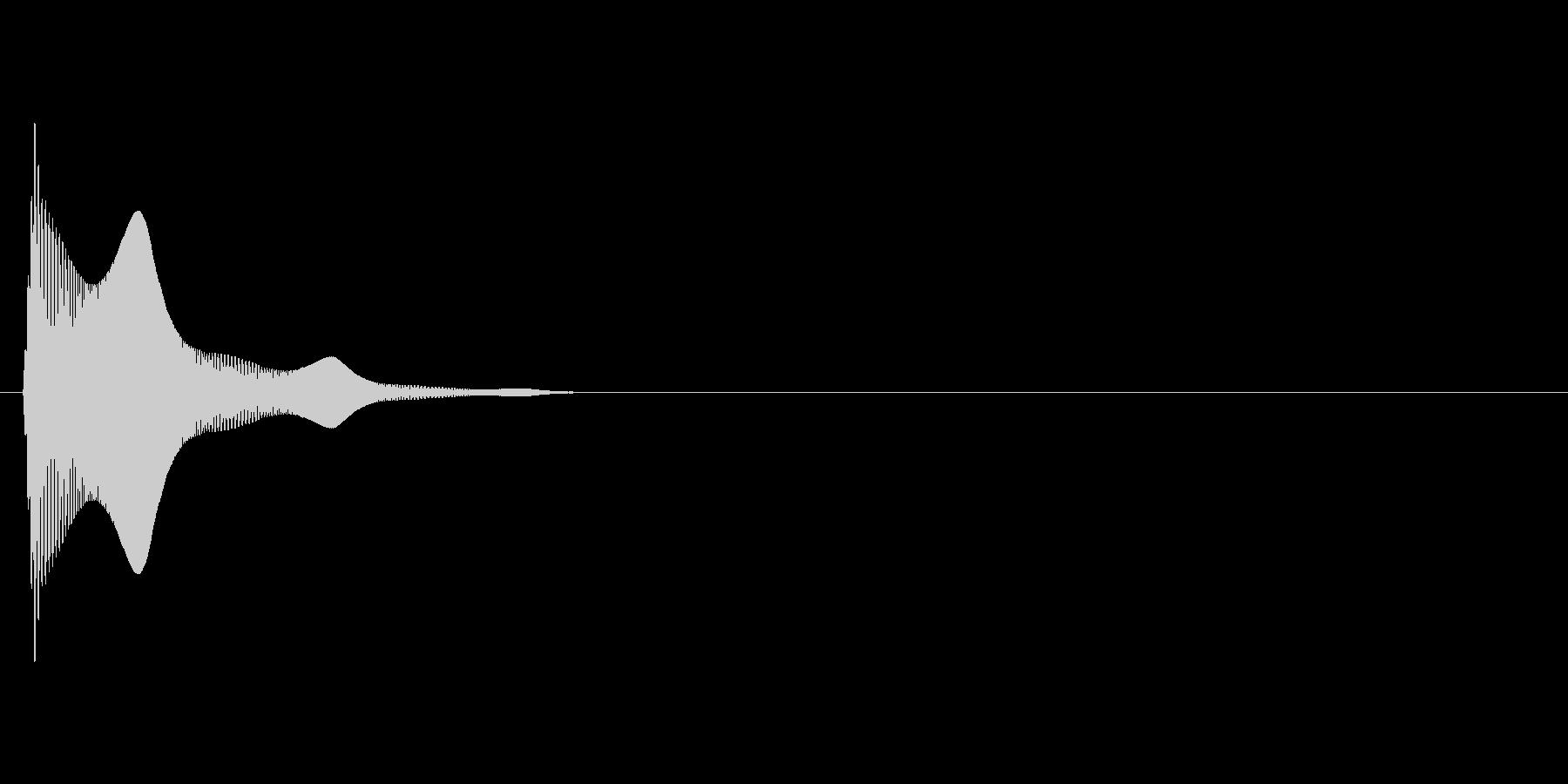ぷにんっ(柔らかい、触れる、揺れる)の未再生の波形