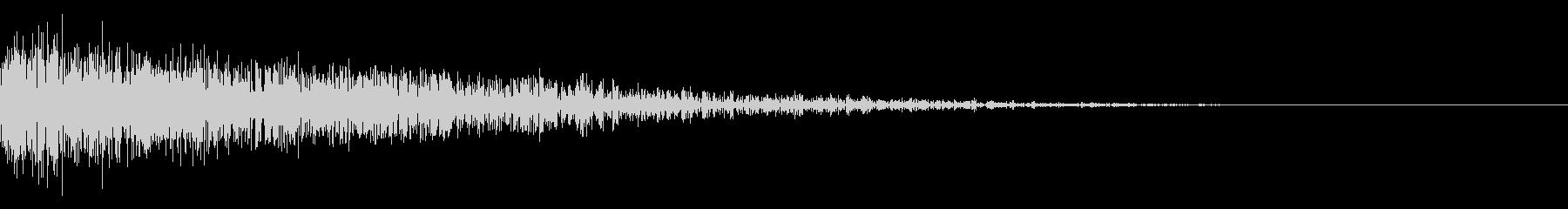パーンという張り手のような音の未再生の波形