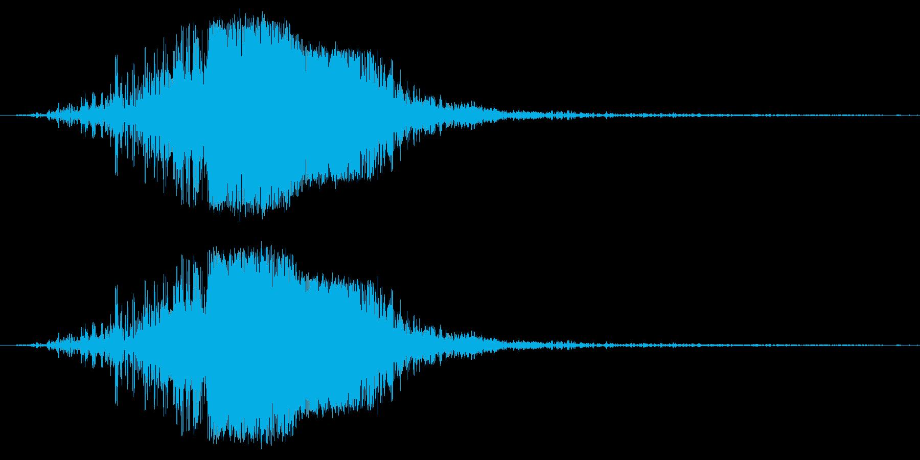 キュピーンの再生済みの波形