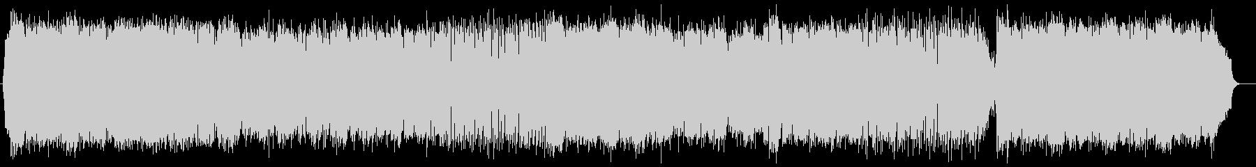 神秘的で美しいシンセサイザーサウンドの未再生の波形