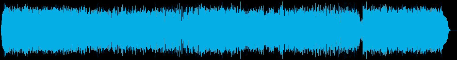 神秘的で美しいシンセサイザーサウンドの再生済みの波形