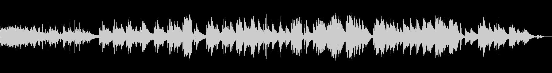 生ピアノ録音-森に迷い込んだようなピアノの未再生の波形