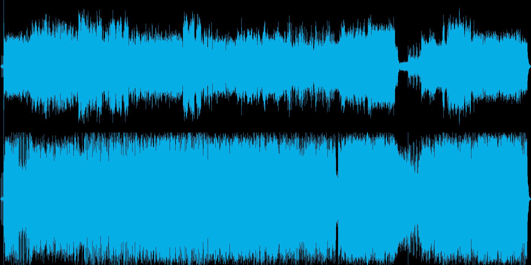 勢いのあるロック skid row風の再生済みの波形