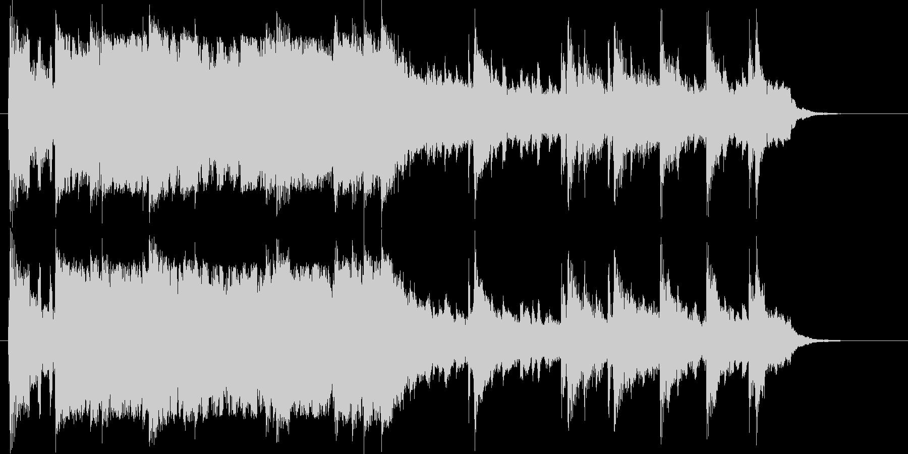 広がりのある優しいシンセサイザーの曲の未再生の波形