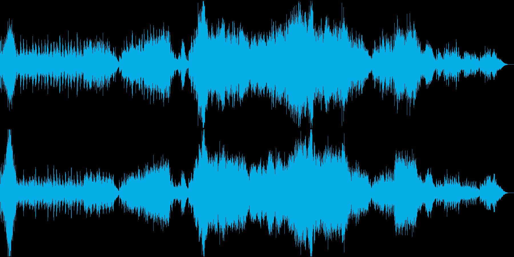 ピアノをメインとした可愛いクリスマス曲の再生済みの波形