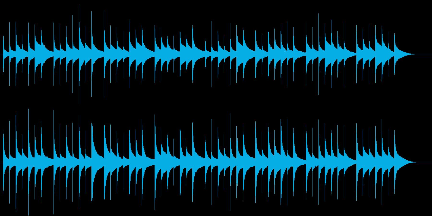 オルゴール風のジングルの再生済みの波形