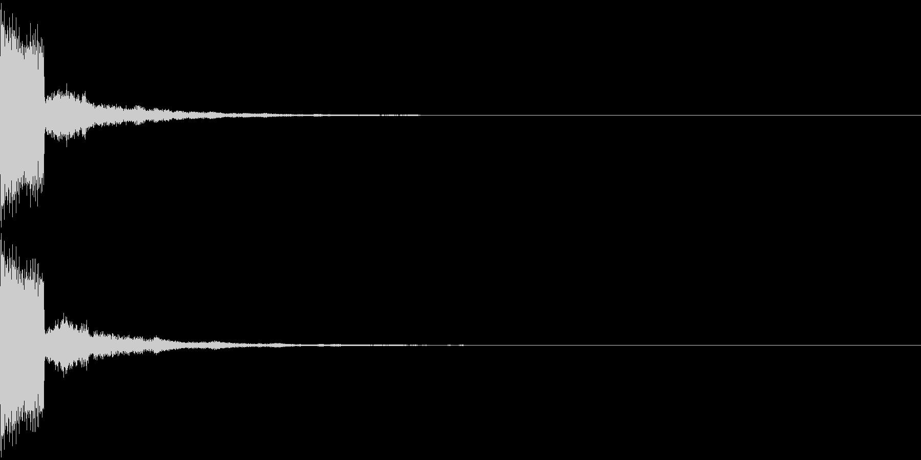 決定音(サイバーな感じのシンセ音)の未再生の波形