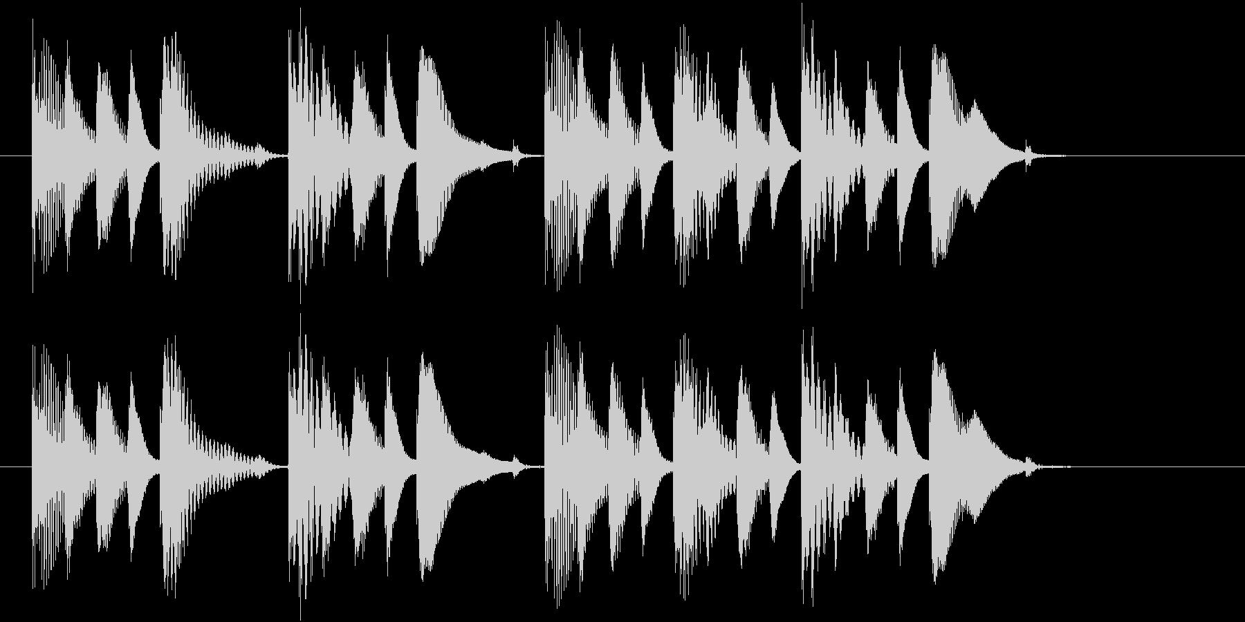 ほのぼの系のシンプルなジングルの未再生の波形
