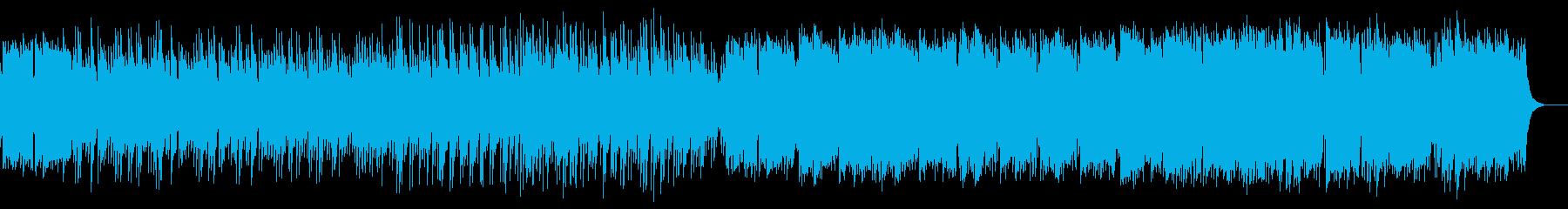 しっとりとして懐かしいピアノ中心の楽曲の再生済みの波形