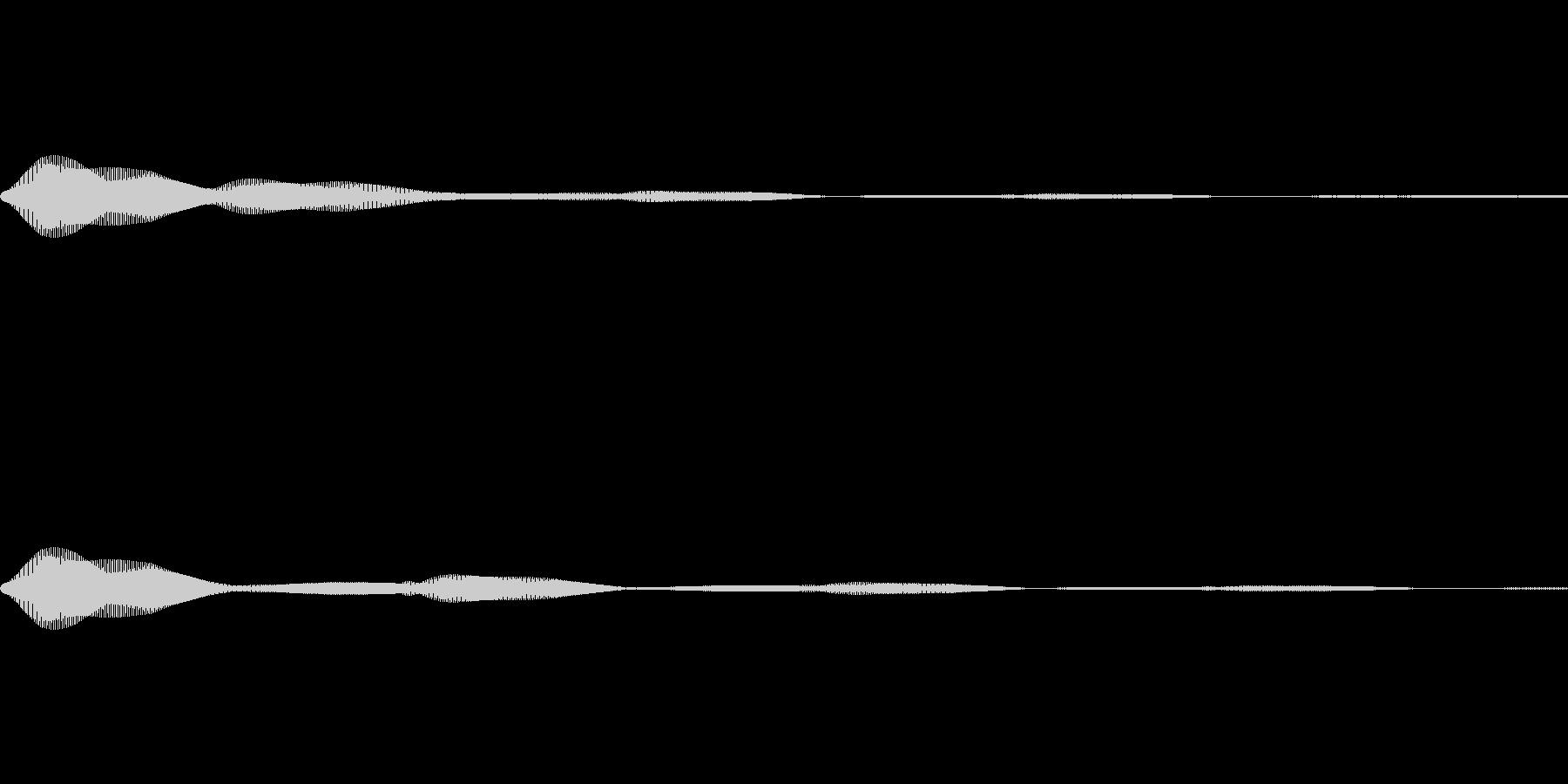 メニュー系SE 決定音1の未再生の波形