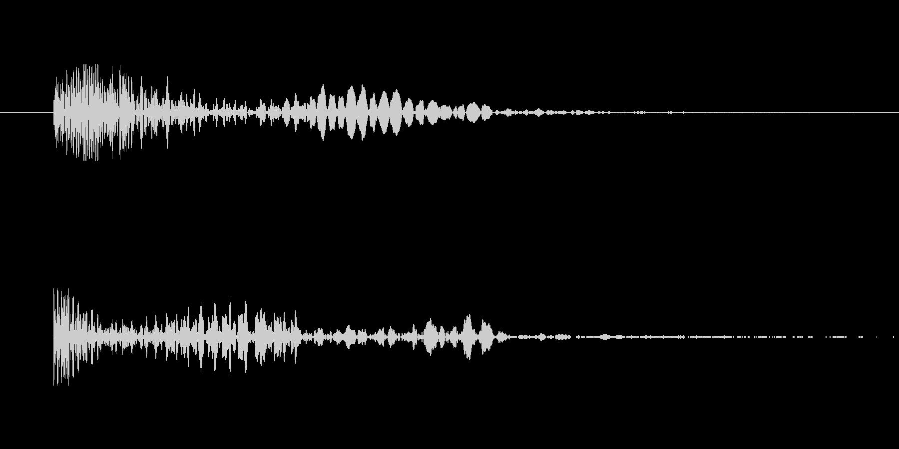 能力が下がるようなテンションの下がる音の未再生の波形