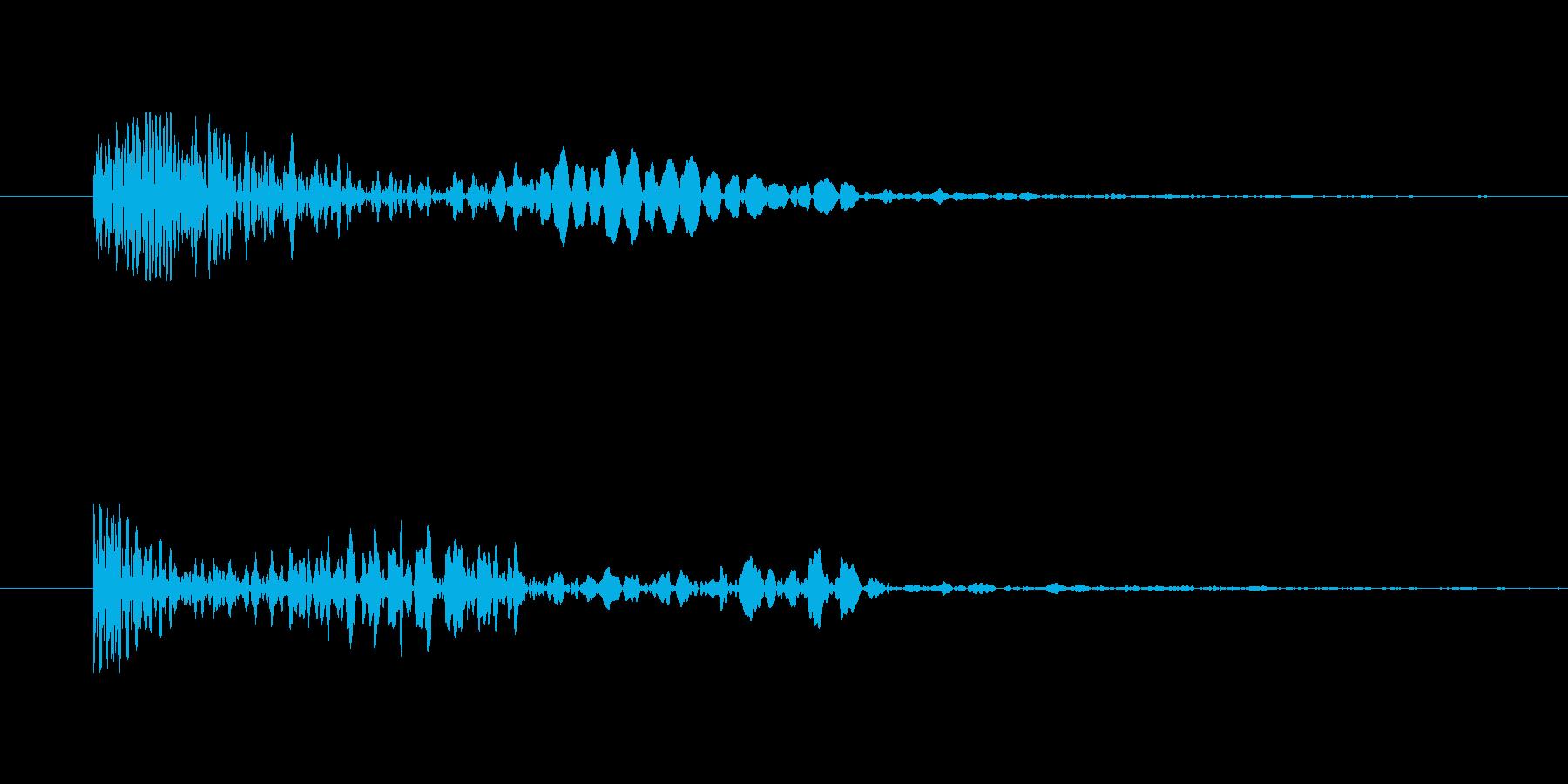 能力が下がるようなテンションの下がる音の再生済みの波形