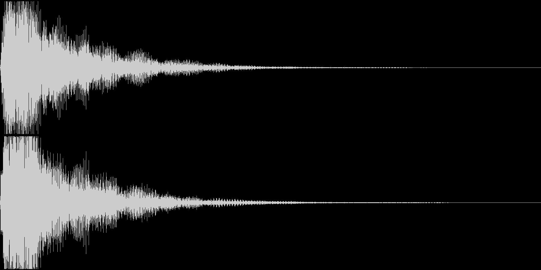 ラ♯/シ♭単音のオーケストラルヒットの未再生の波形