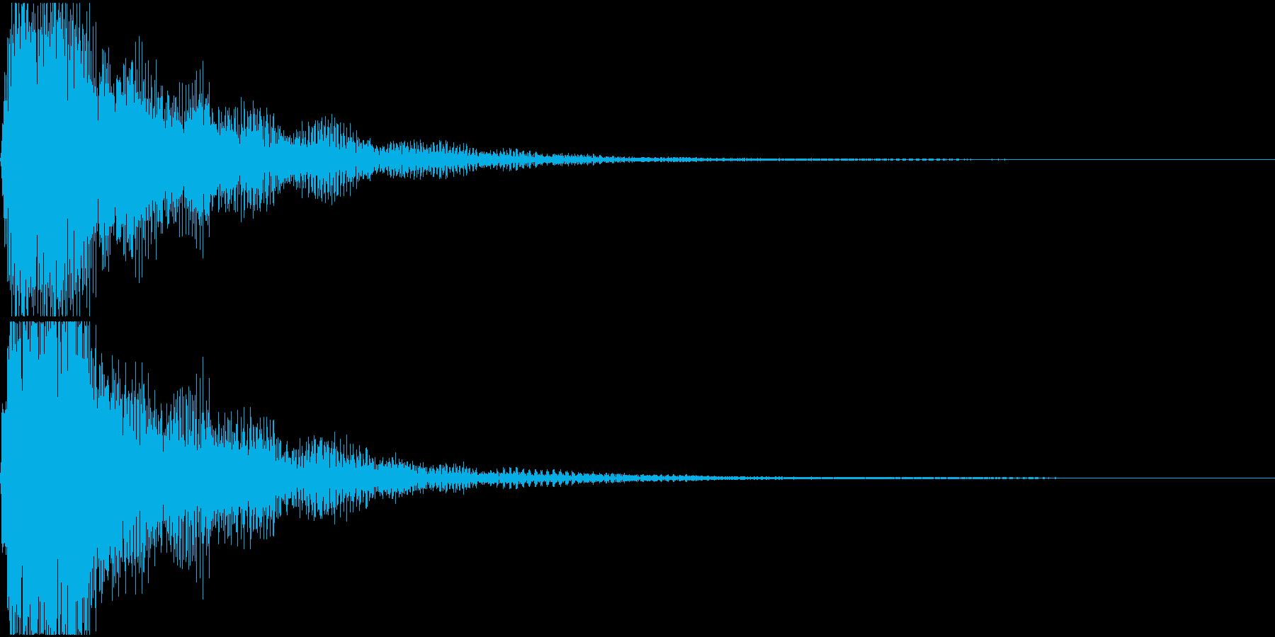 ラ♯/シ♭単音のオーケストラルヒットの再生済みの波形