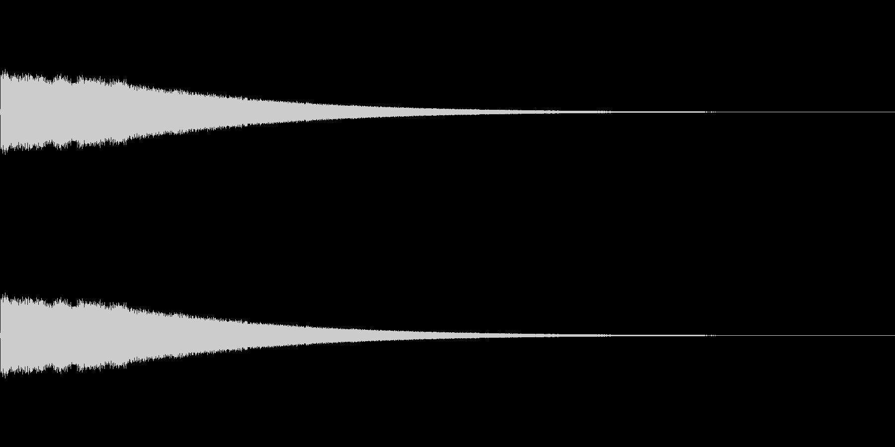 ぴよぴよ…(気絶・目が回る際の効果音)の未再生の波形