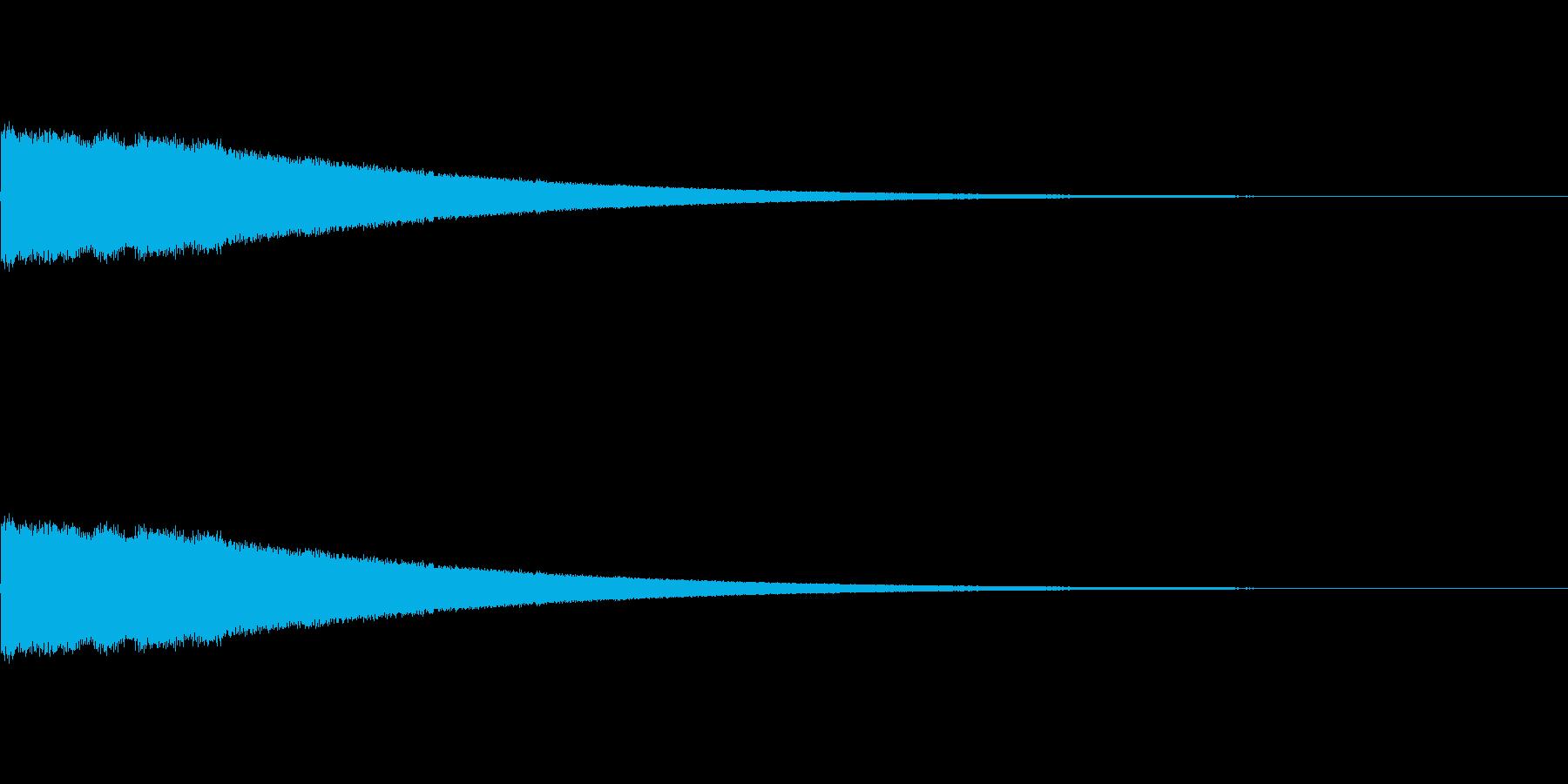 ぴよぴよ…(気絶・目が回る際の効果音)の再生済みの波形