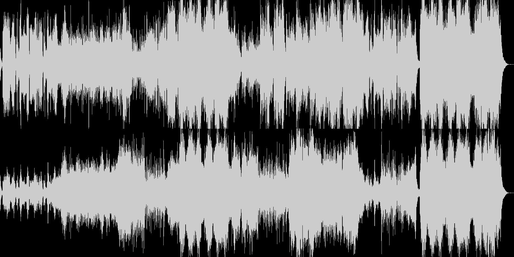 壮大で感動的な和風オーケストラBGMの未再生の波形