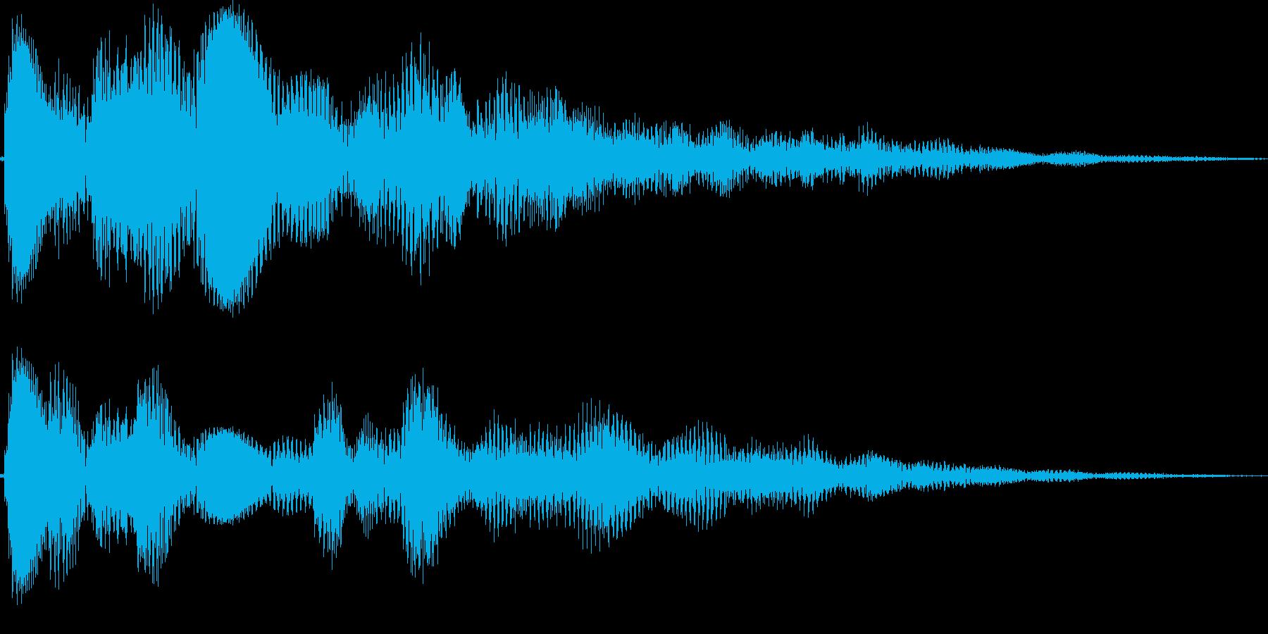 ピララーン(タイトル、上がる、表示)の再生済みの波形