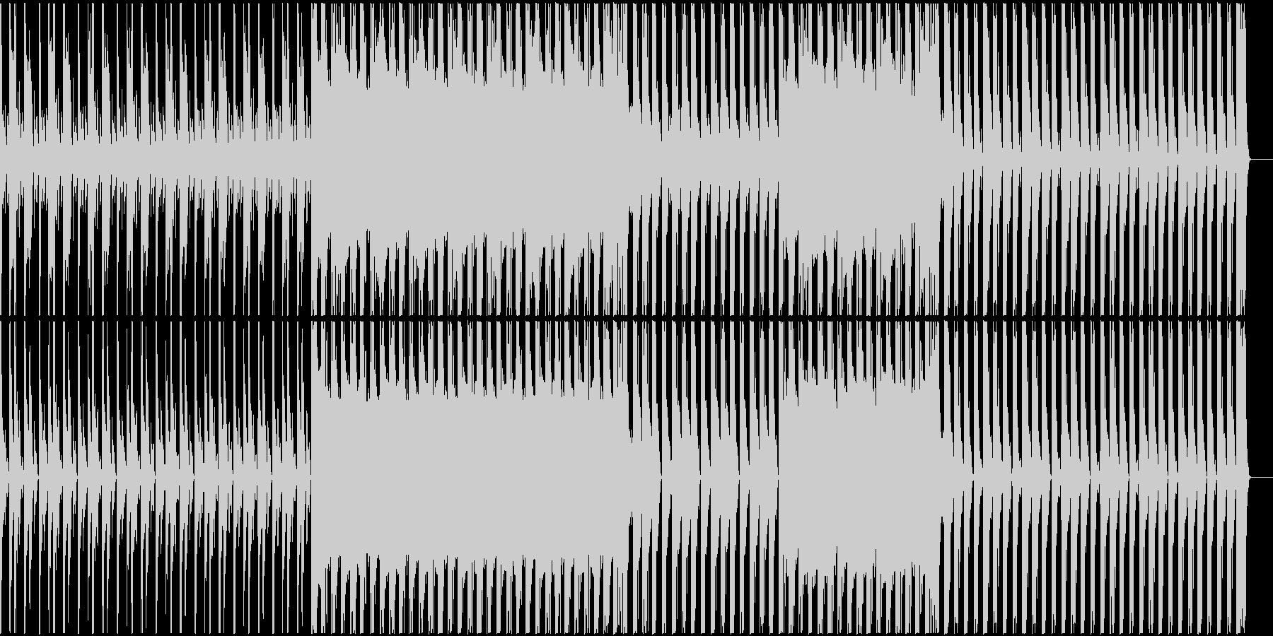 落ち着いたニュース番組のようなBGMの未再生の波形