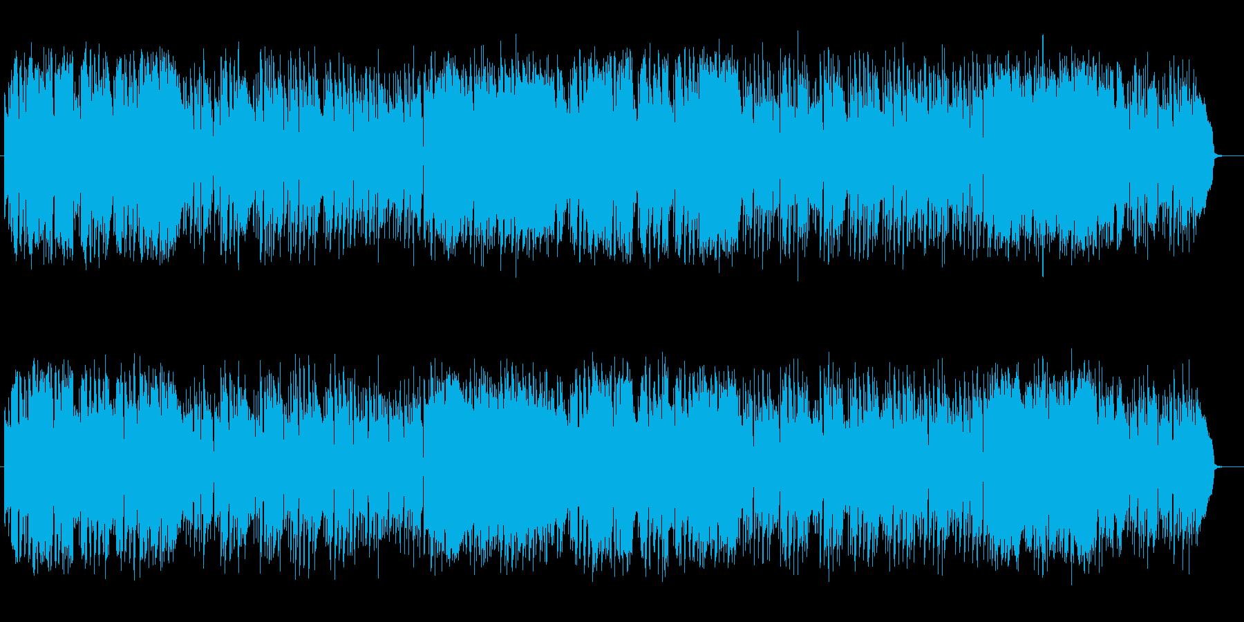 ミステリアスな懐かしいシンセサイザーの曲の再生済みの波形