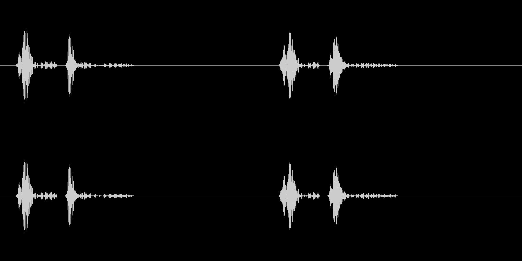 ドクンドクンという心臓の鼓動(早)ループの未再生の波形
