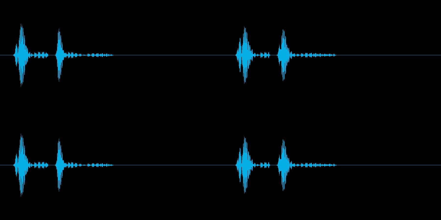 ドクンドクンという心臓の鼓動(早)ループの再生済みの波形