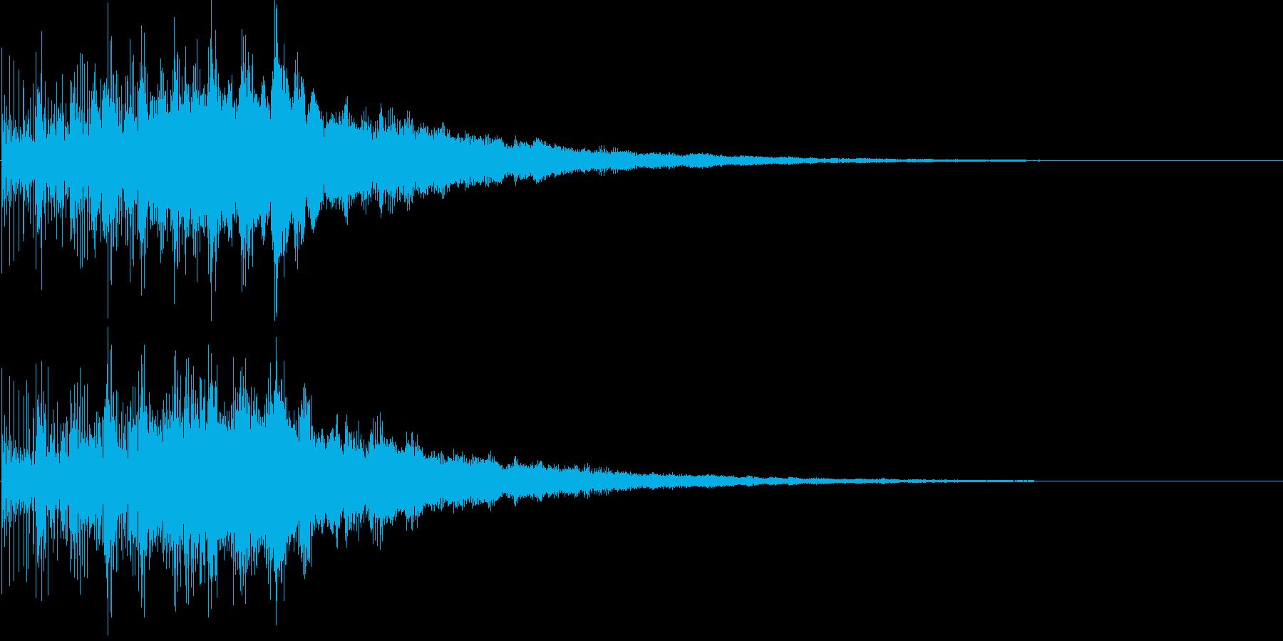 魔法 決定 クイズの再生済みの波形