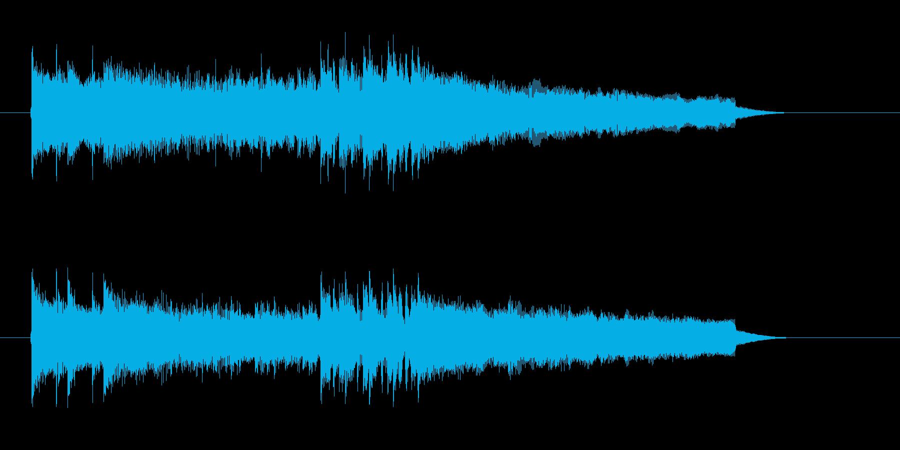 爽快で勢いのあるギターサウンドの再生済みの波形
