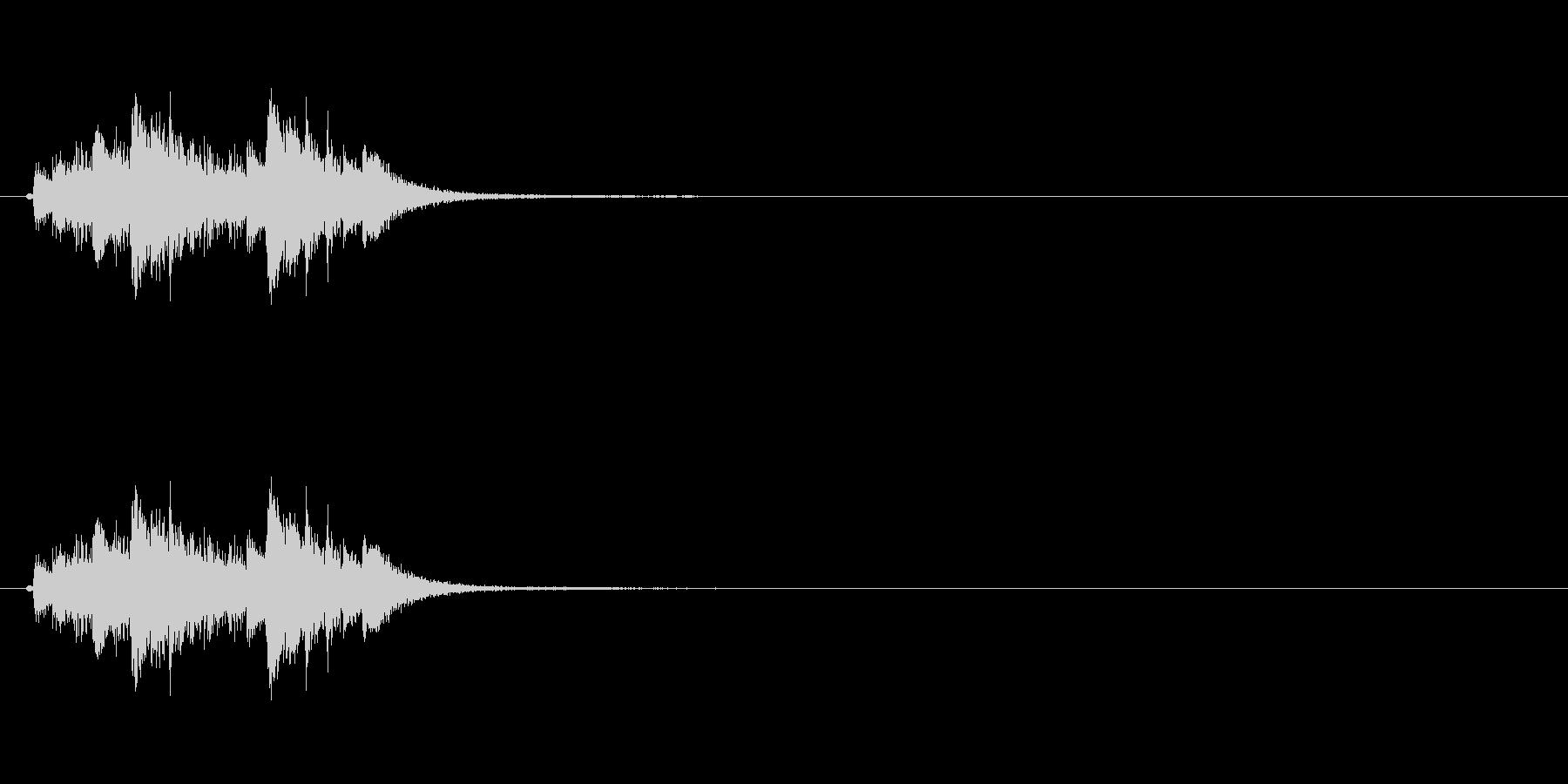 琴を使った和風のジングルですの未再生の波形