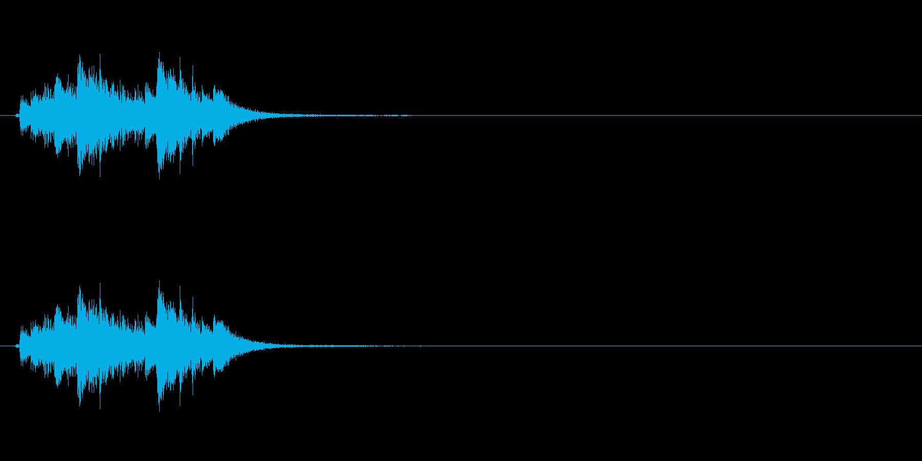 琴を使った和風のジングルですの再生済みの波形