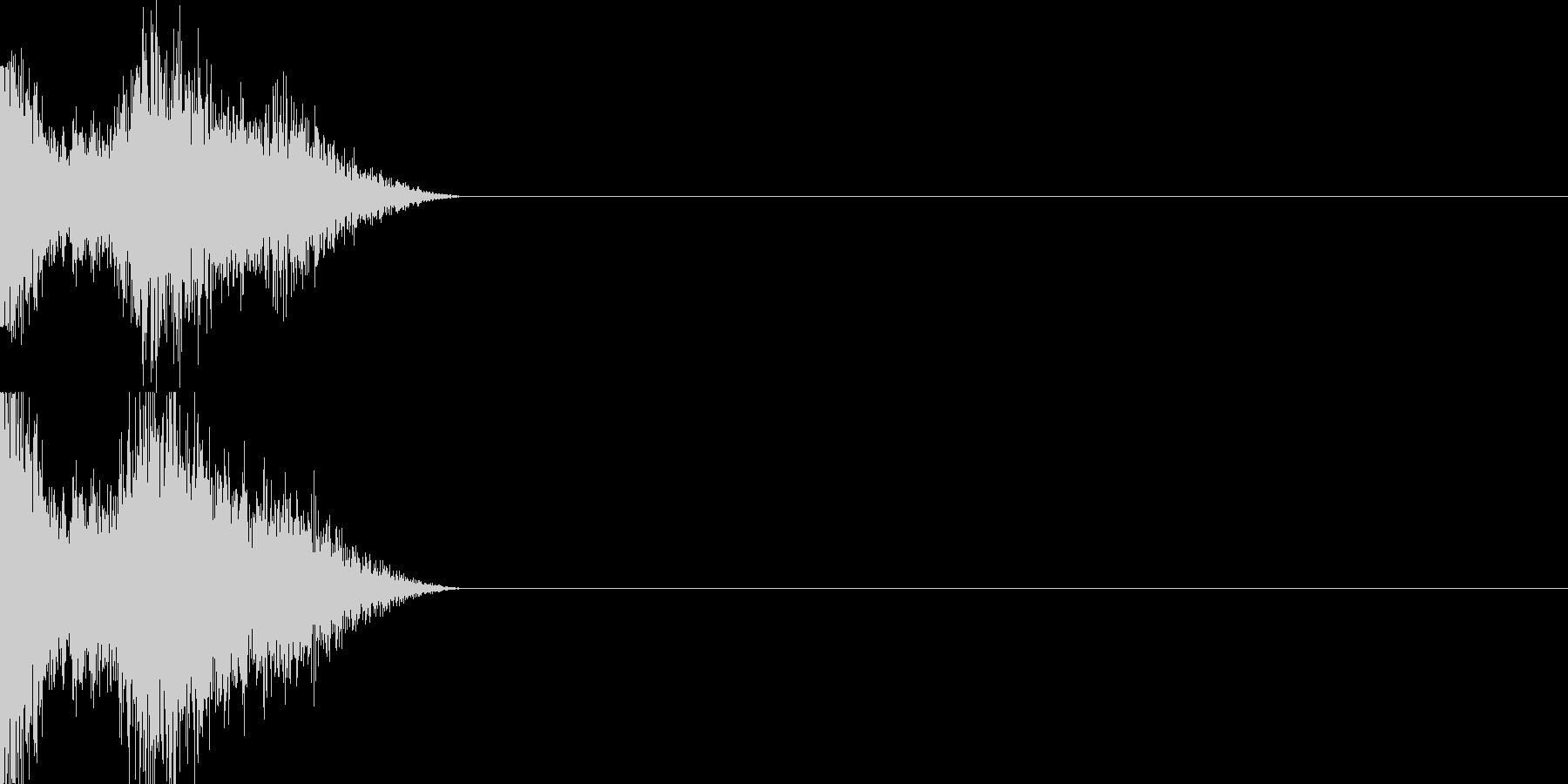 衝撃音01(弱め)の未再生の波形