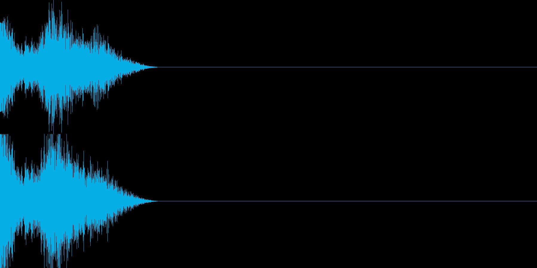 衝撃音01(弱め)の再生済みの波形