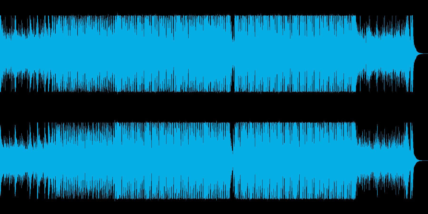 疾走感のあるシンセサイザーポップスの再生済みの波形