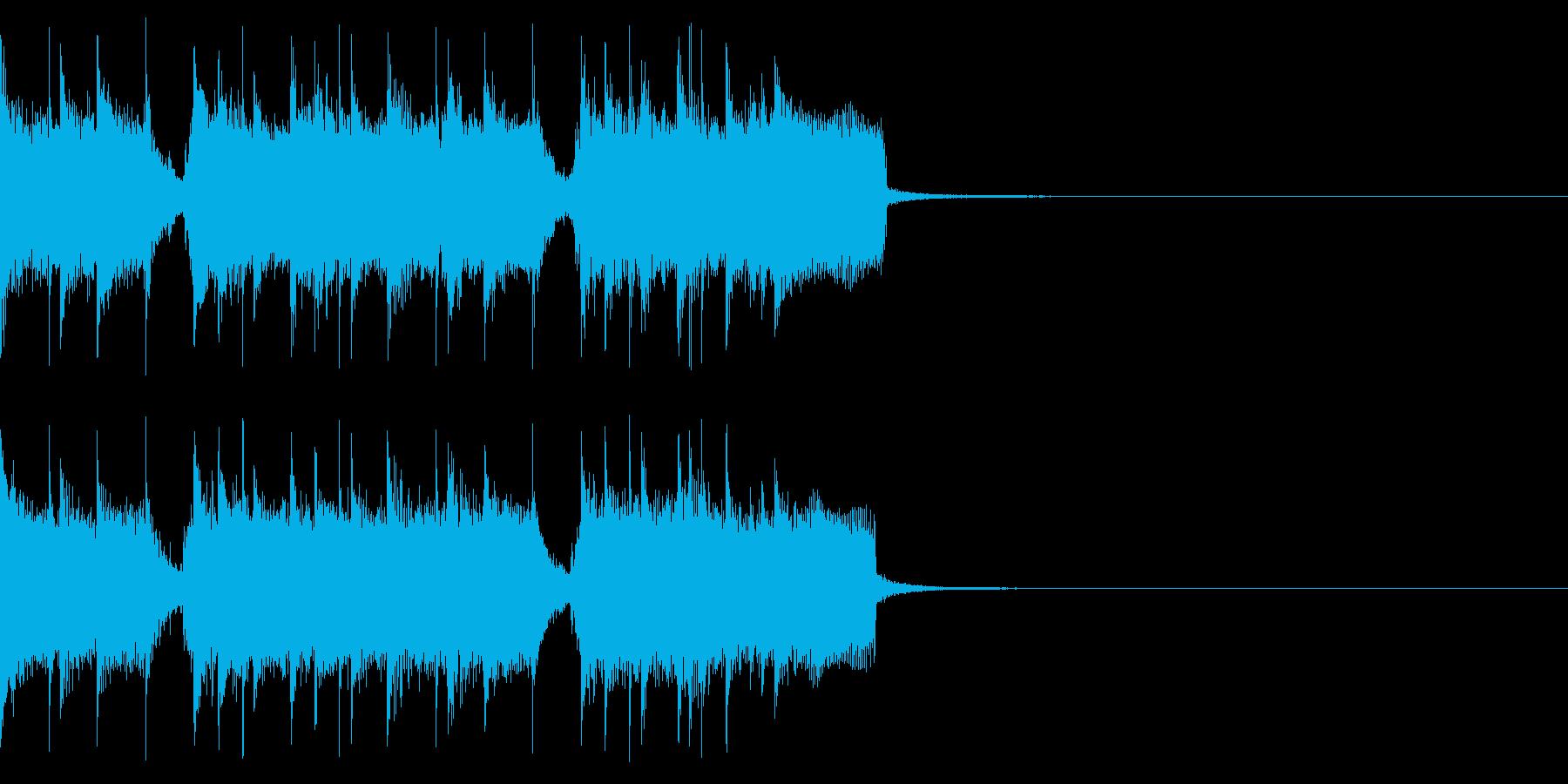 エンディングなどにロックなギタージングルの再生済みの波形