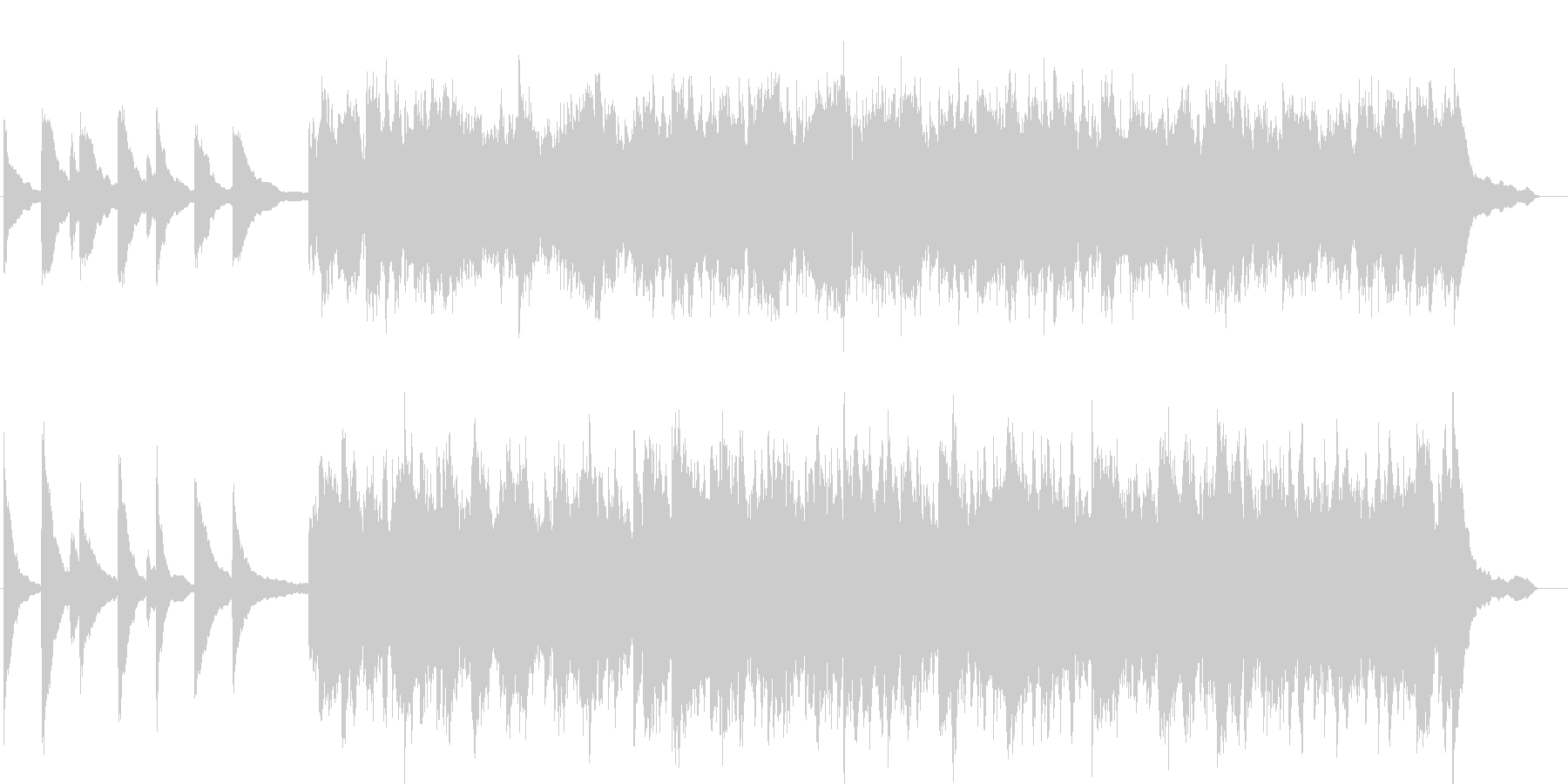 幻想的で綺麗なピアノBGM6の未再生の波形