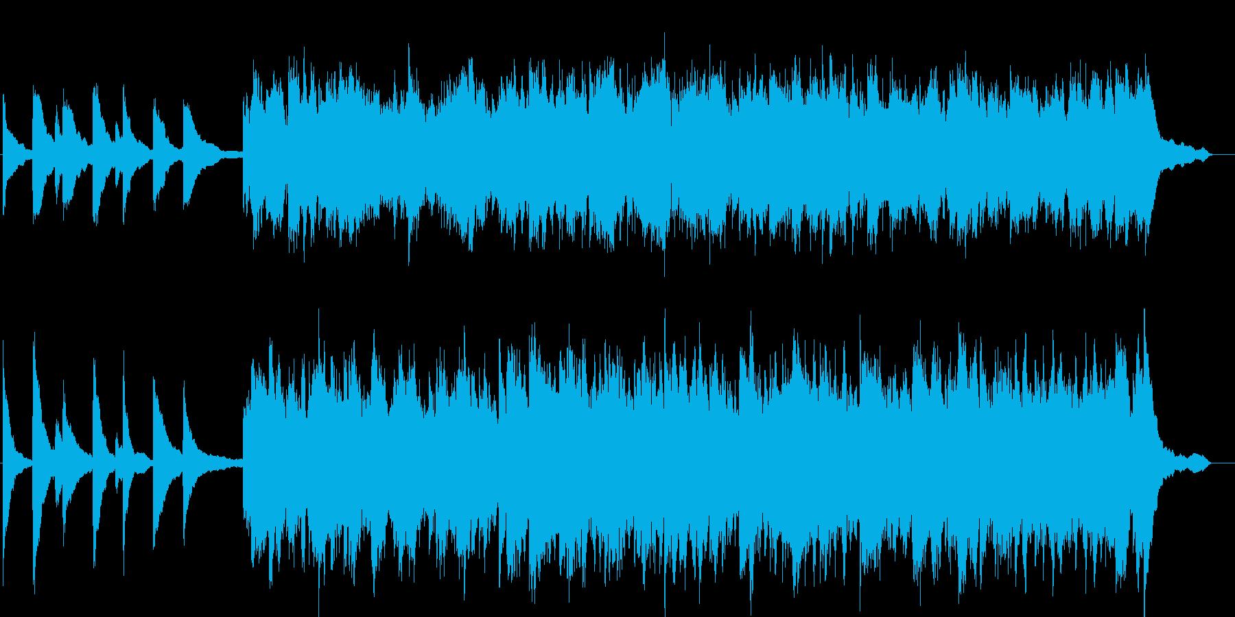 幻想的で綺麗なピアノBGM6の再生済みの波形