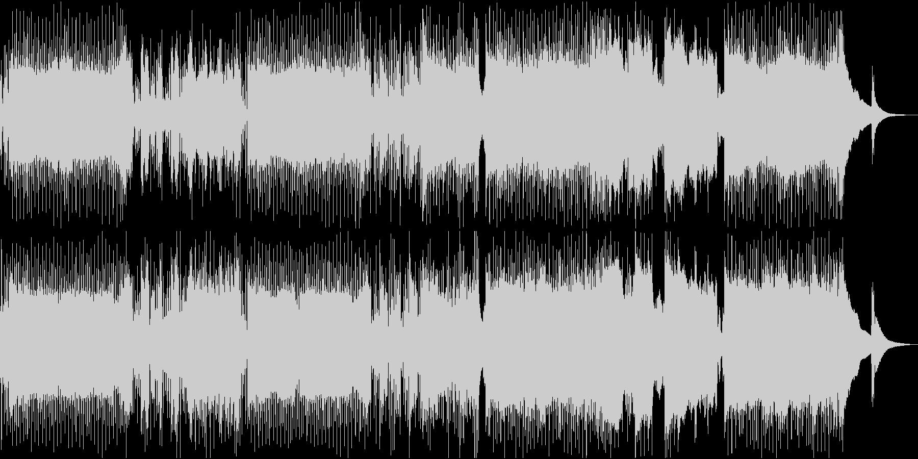 ロック調のメニュー画面向けBGMの未再生の波形