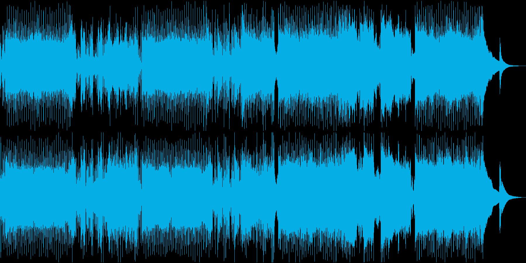 ロック調のメニュー画面向けBGMの再生済みの波形