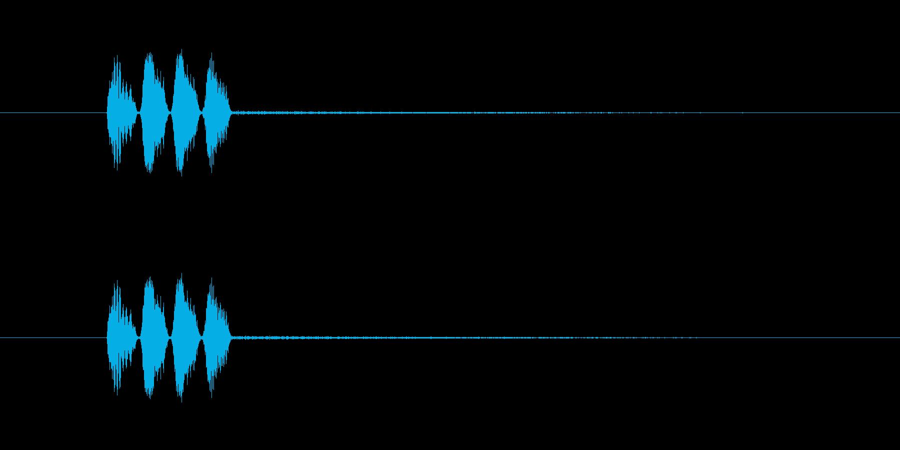 オリジナルの効果音_ボタンや動きなどの再生済みの波形