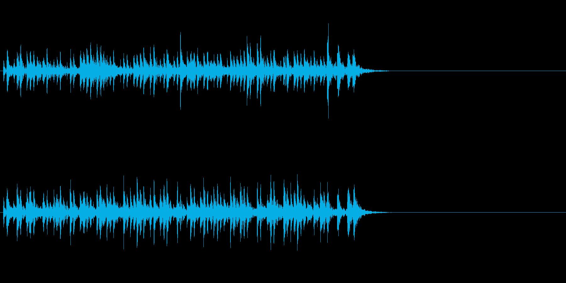 軽快でエキサイティングなワールドジングルの再生済みの波形