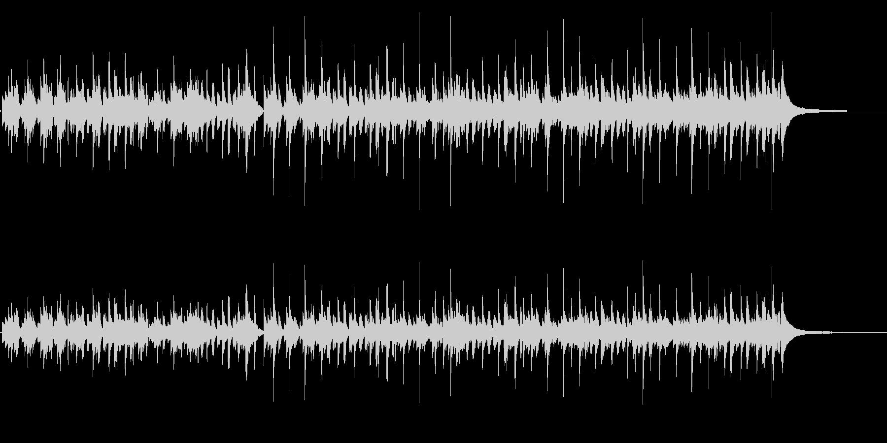 何者かがついてくるような不気味な曲/生音の未再生の波形