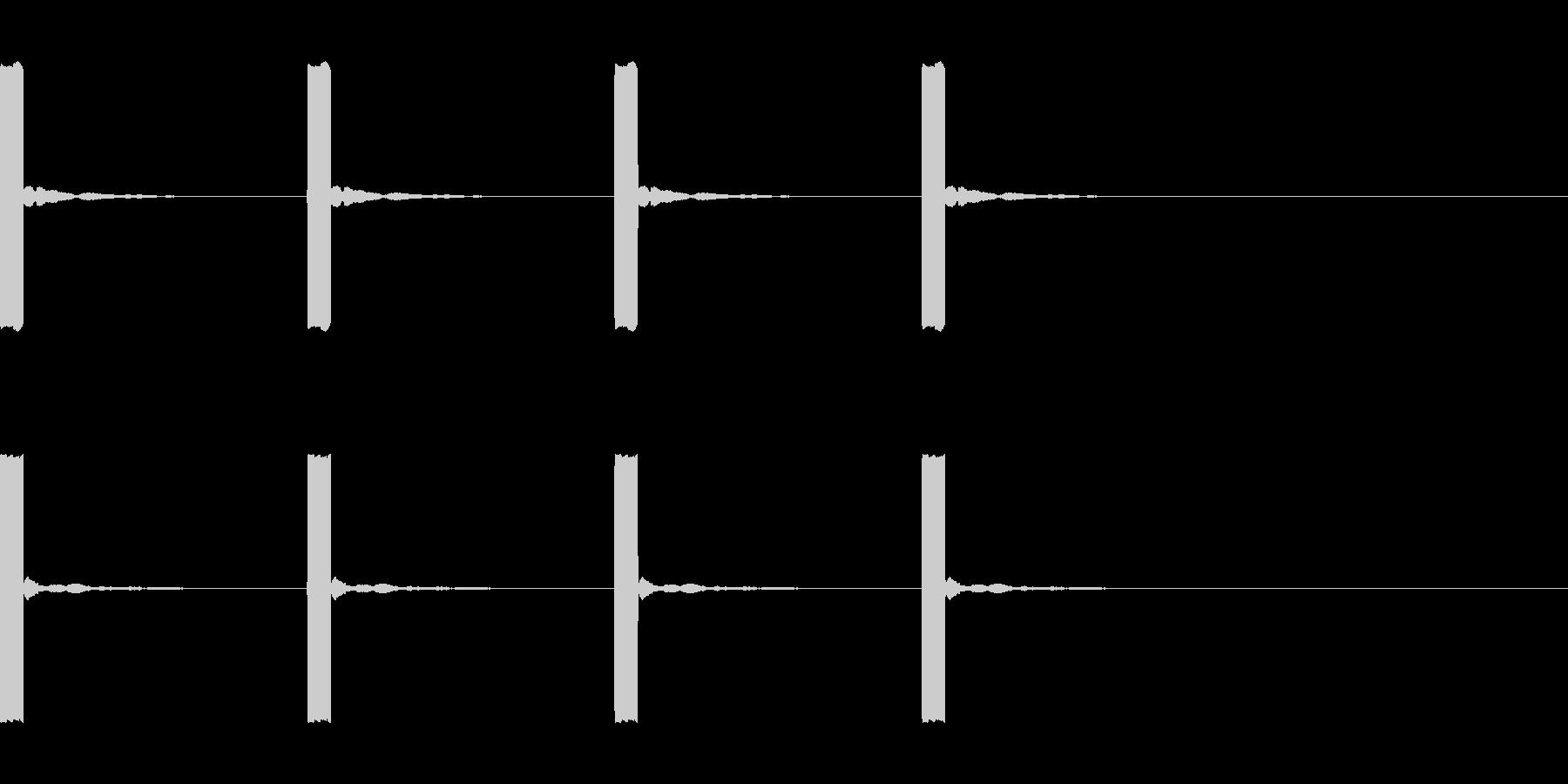 ピッ×4(時間が過ぎる演出)の未再生の波形