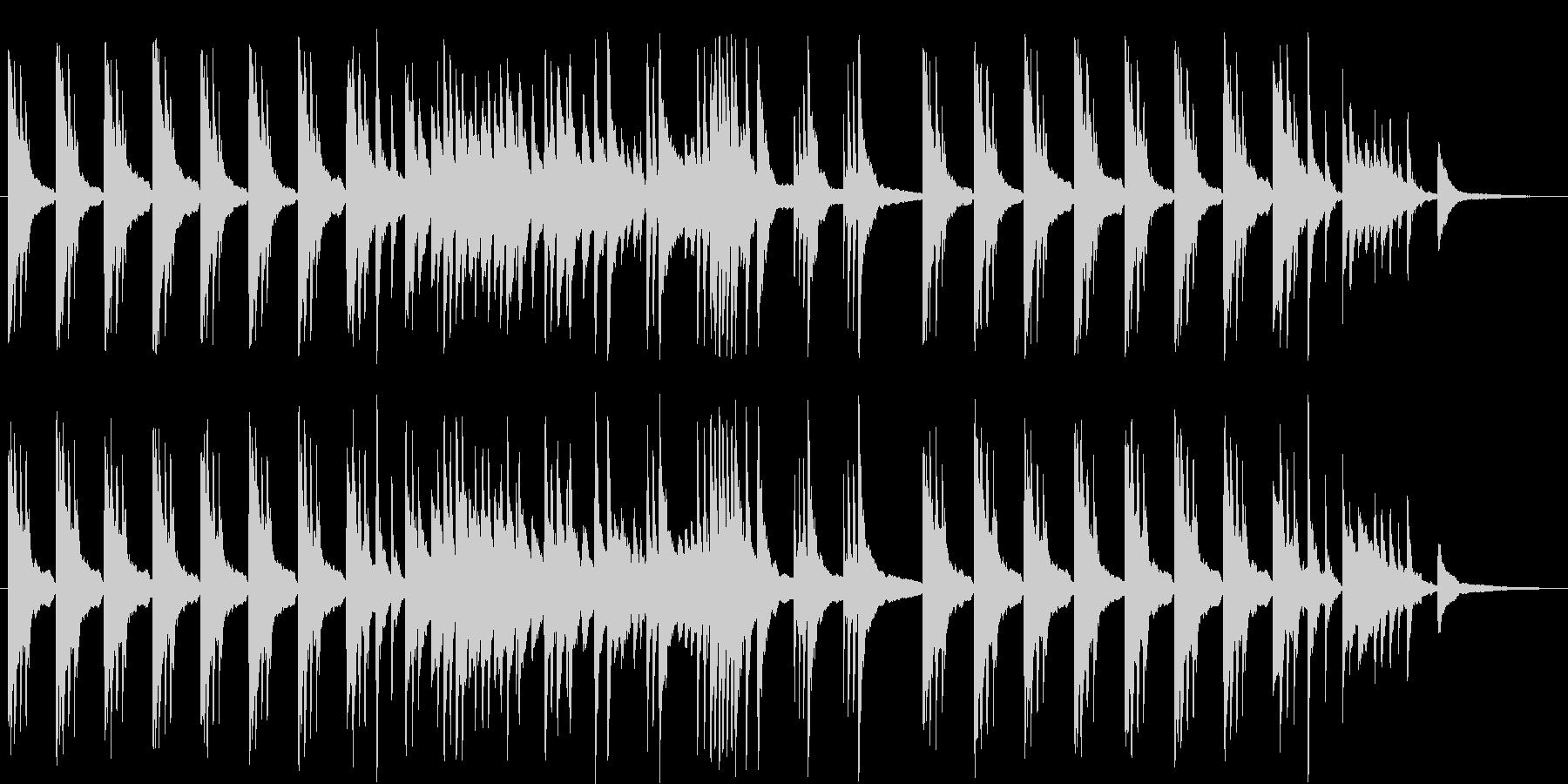 ゆったりとしたピアノソロのBGMです。の未再生の波形