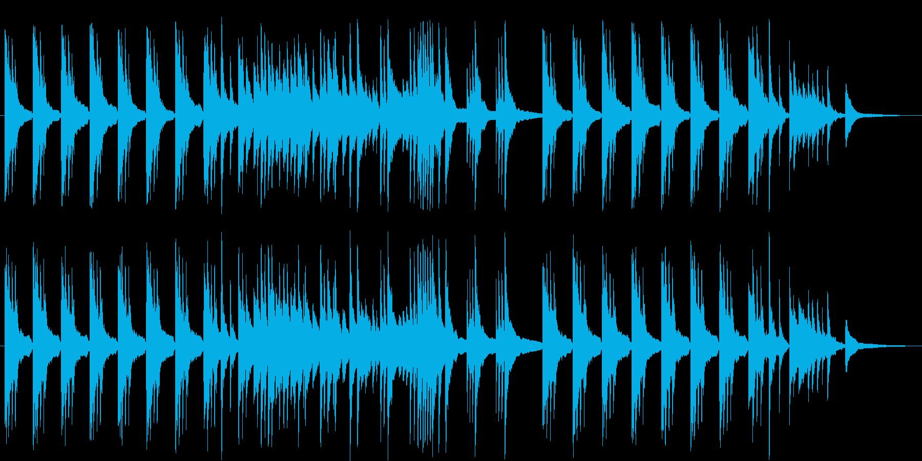 ゆったりとしたピアノソロのBGMです。の再生済みの波形