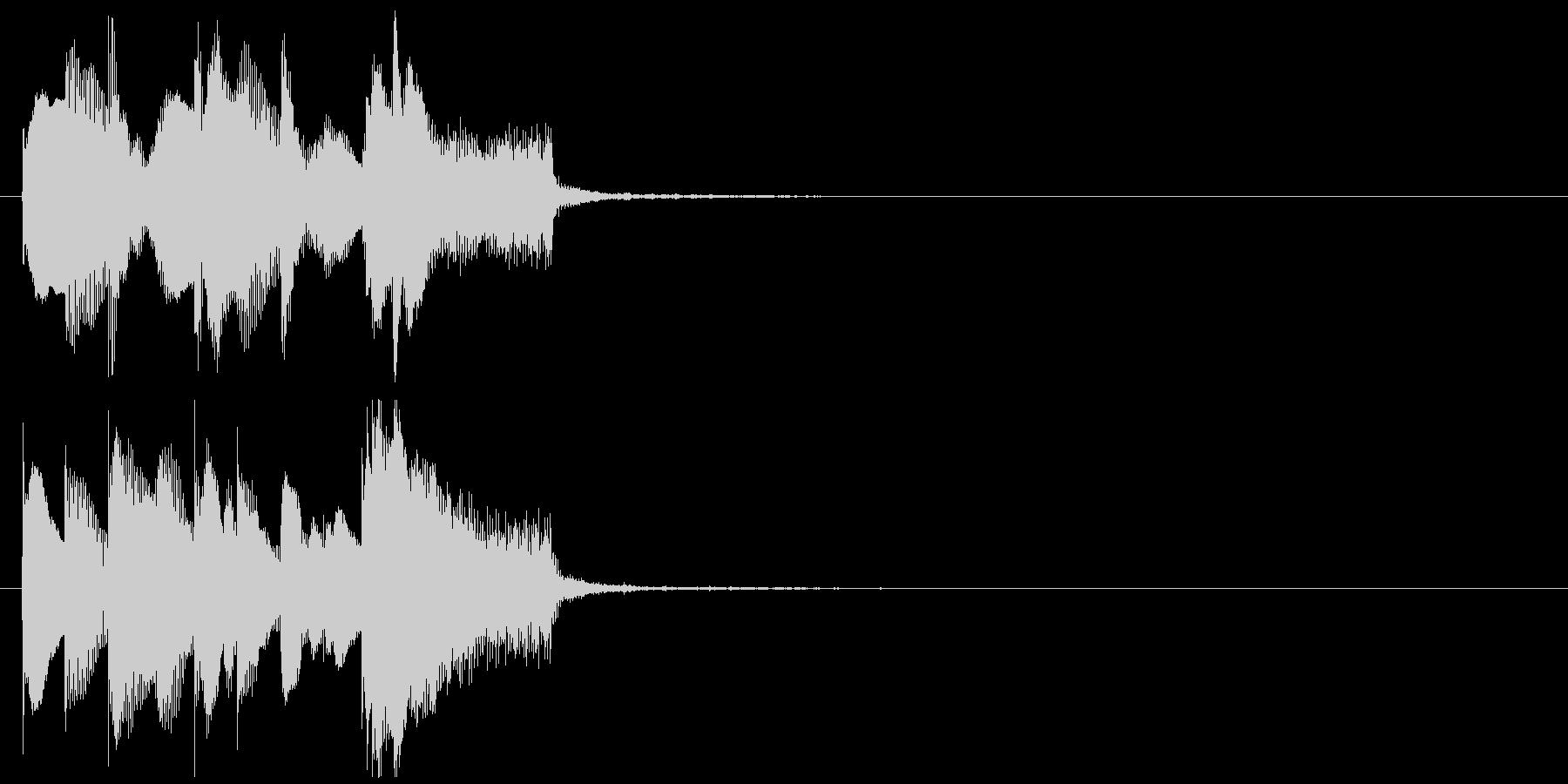 サウンドロゴ風ジングル 優しく近未来的の未再生の波形