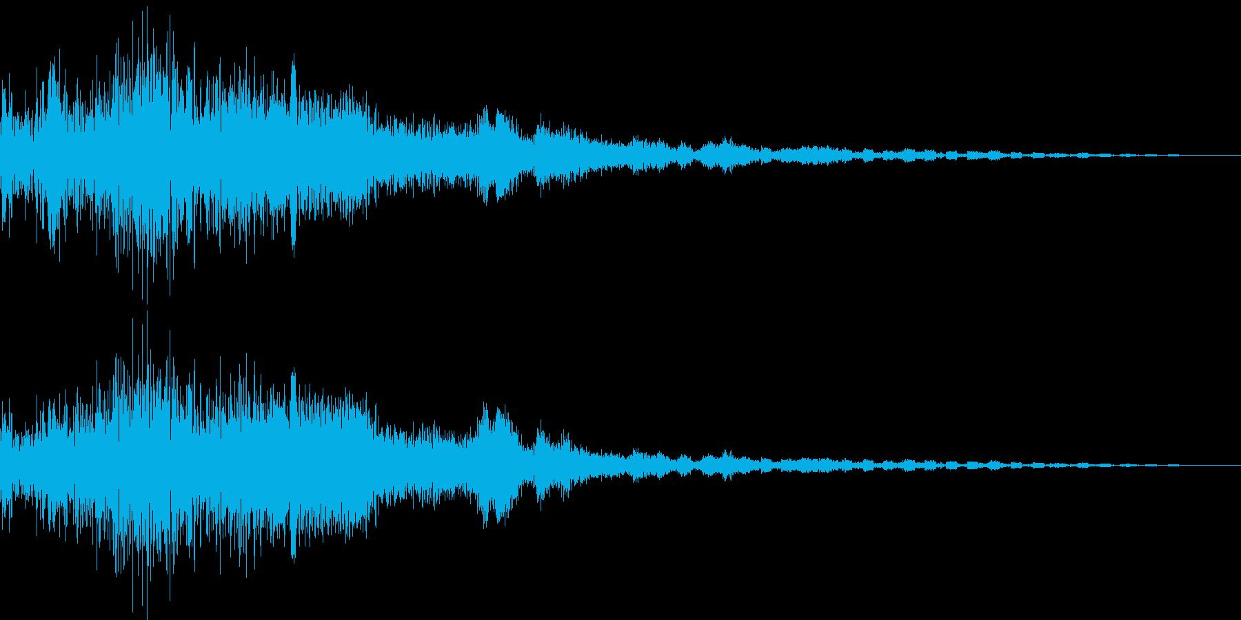 決定/ボタン押下音(ドキュイーン)の再生済みの波形